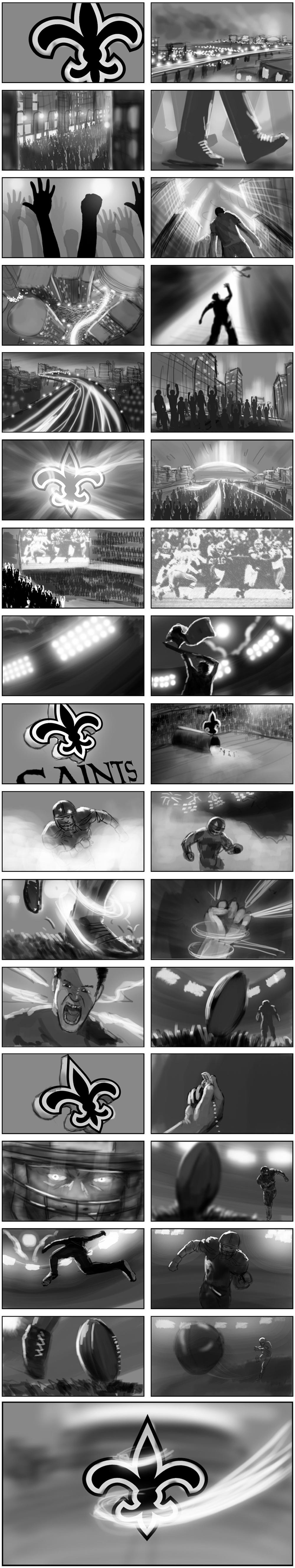 New Orleans Saints Storyboard